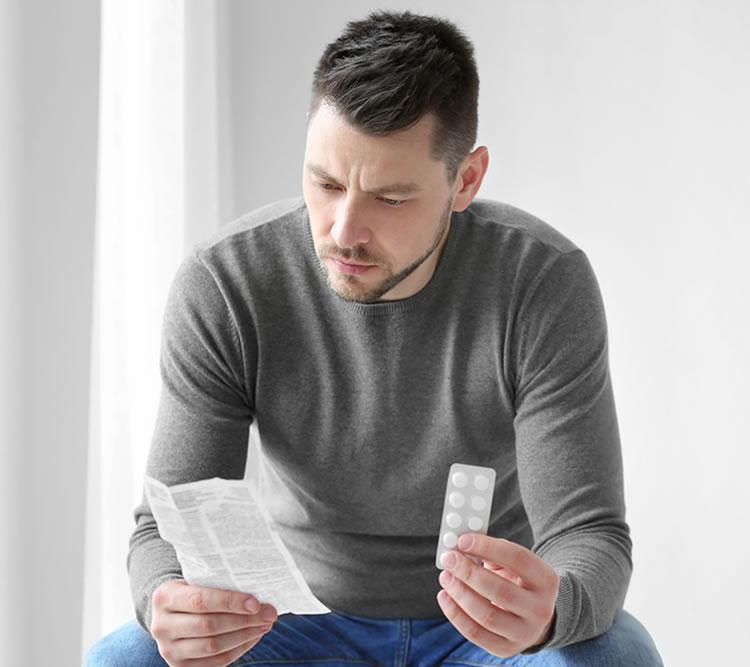 Medicación oral, disfunción eréctil